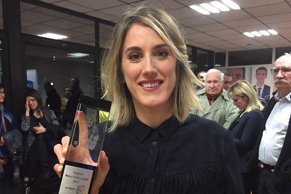 Myriam Nicole, lauréate du Trophée Marc Guillaume 2017