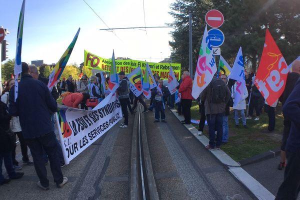 Manifestation contre la réforme du code du travail à Clermont-Ferrand le 21 septembre 2017.