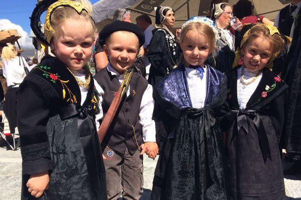 Les enfants aussi se sont costumés pour l'occasion.