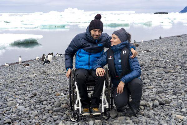 Samuel Marie et sa compagne en Antarctique