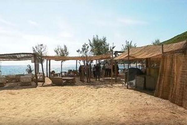 La paillote du Misincu, sur la plage de Cagnano