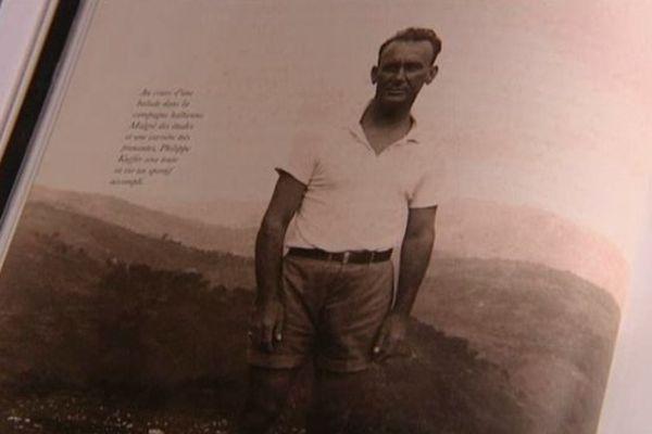 """Photo de Philippe Kieffer extraite du livre  """"Philippe Kieffer, chef des commandos de la France libre"""""""