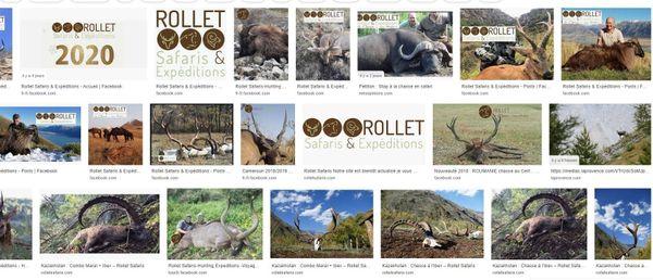 Les photos issues du site Internet de l'agence de voyage.
