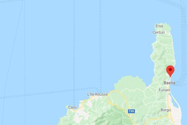 C'est au nord de Bastia, à l'entrée du village de Pietranera, que s'est déroulé l'accident