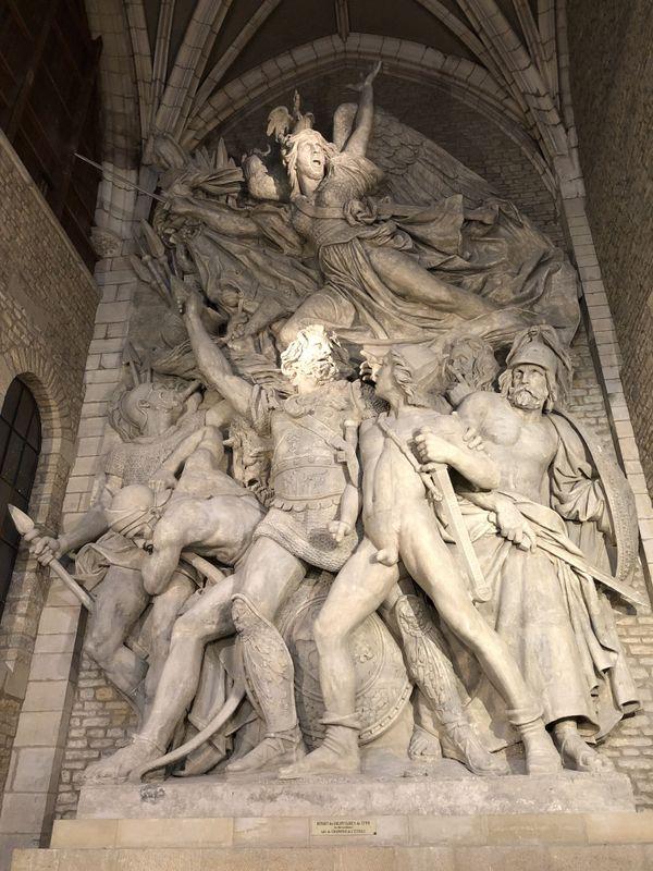 Le moulage en plâtre de La Marseillaise exposé au musée Rude de Dijon.