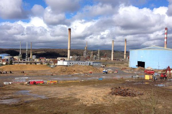 Le site de l'ancienne raffinerie des bords de Seine occupe 260 hectares (mars 2016)
