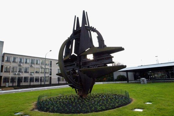 L'ancien site de l'Otan à Bruxelles, photographié en 2002.