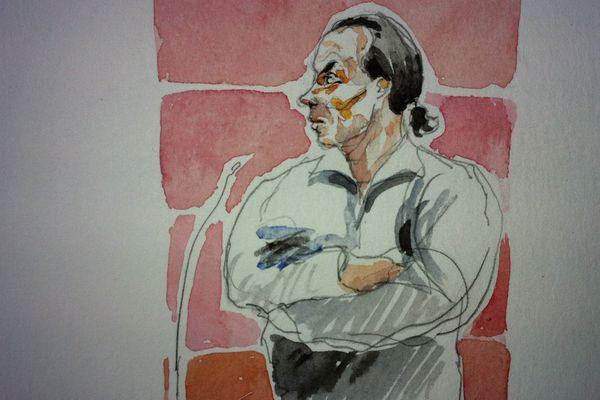 Tony Meilhon lors de son procès à Nantes