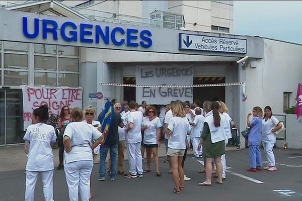 Ce jeudi, le personnel des urgences était mobilisé à la veille de la visite de la ministre de la santé Agnès Buzyn