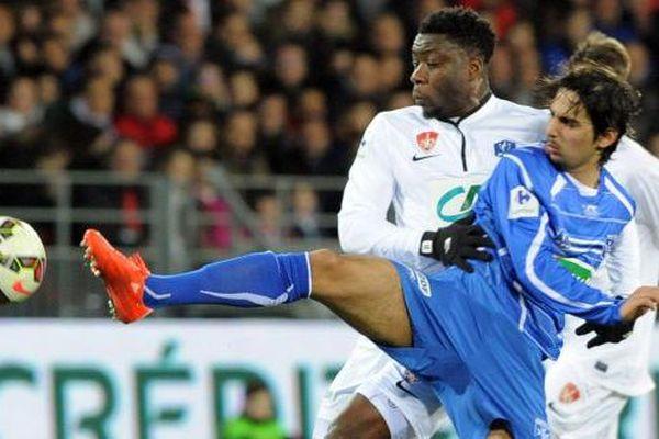 Les joueurs de l'AJ Auxerre se sont imposés aux tirs au but face à Brest lors des quarts de finale de la Coupe de France de football jeudi 5 mars 2015