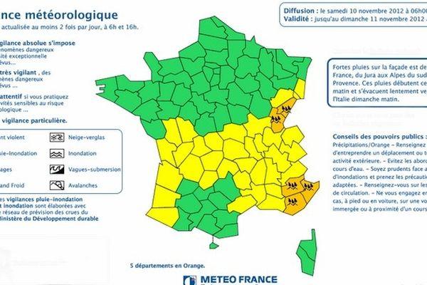 """Météo France fait une alerte """"orange"""" dans la région."""
