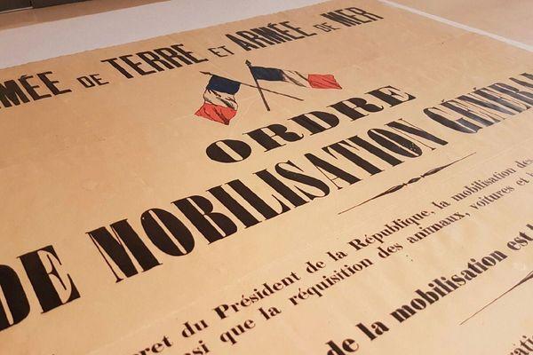 Ordre de mobilisation générale en 1914