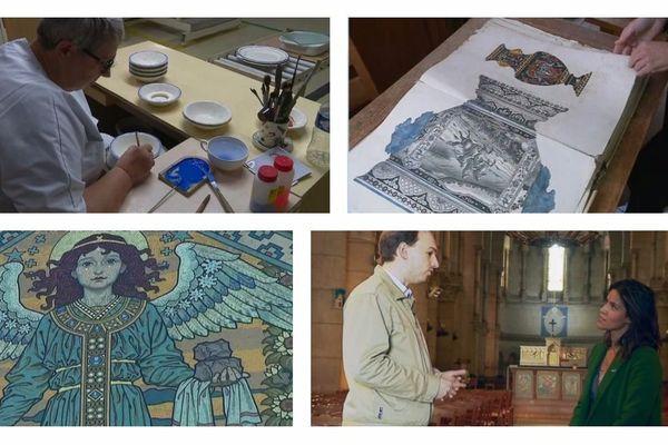 Peinture sur faience de Gien, Archives de Gien, Emaux de Briare, Antoine Estienne