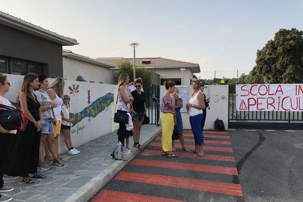 La rentrée ne se fera pas aujourd'hui à l'école primaire de Folelli.