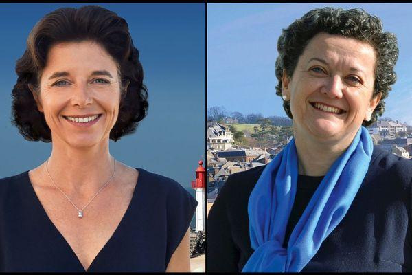 Sylvie de Gaétano, à gauche, et Stéphanie Fresnais, à droite, les deux candidates du second tour des municipales à Trouville