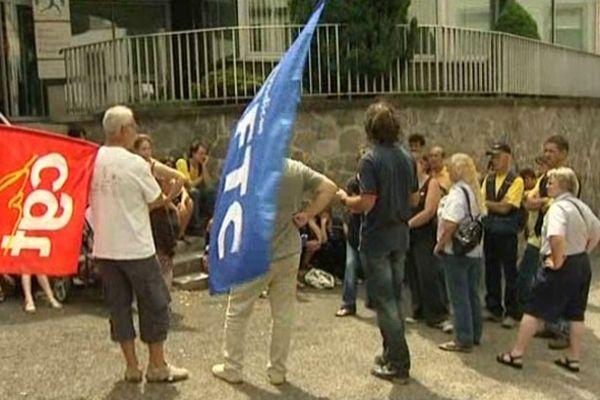 Postiers corréziens en grève (4 juillet 2011)