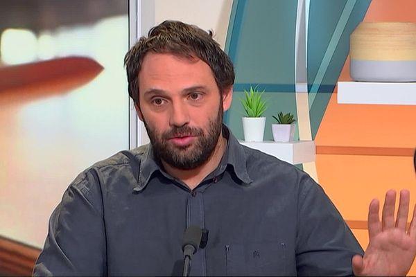 """Le professeur Vincent Bounes, directeur du SAMU 31, sur le plateau de notre émission """"Tous ensemble contre le coronavirus"""" en mars 2020."""