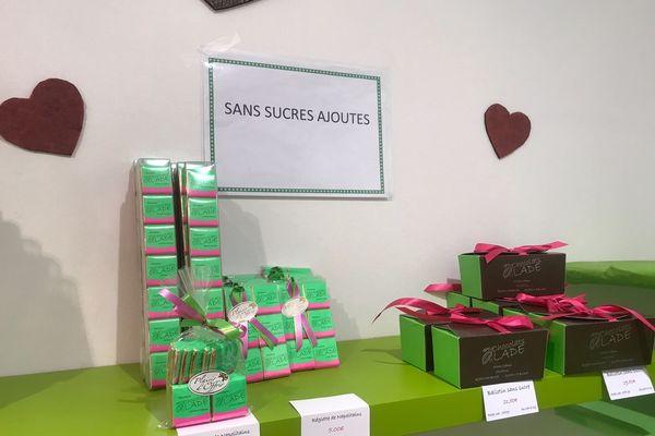 Le rayon de chocolats LADE sans sucres ajoutés