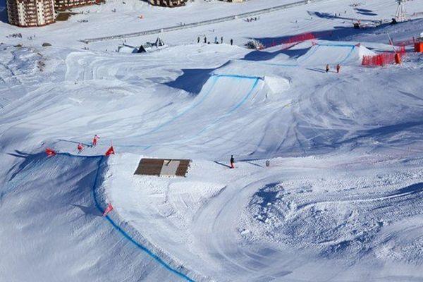 La piste de skicross de Val Thorens