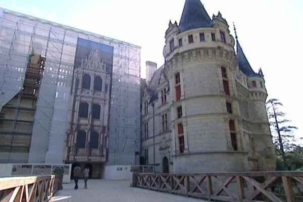 Grand chantier de rénovation au château d'Azay-le-Rideau