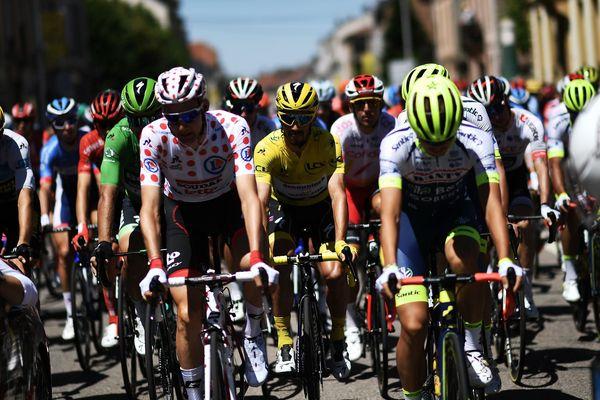 Le peloton du Tour de France, le 10 juillet 2019.