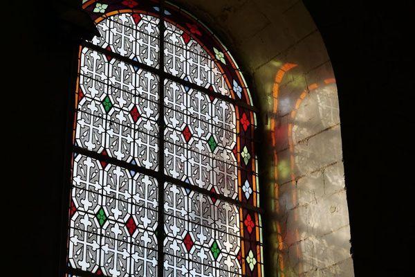 Le vitrail de l'église Saint-Léger