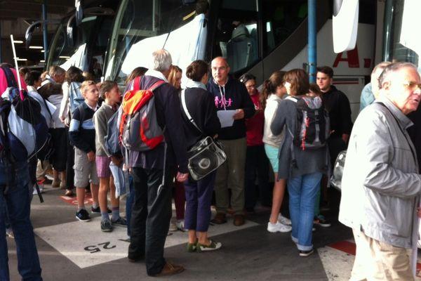 180 personnes ont pris place dans les bus pour Bordeaux