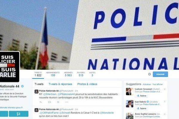 La Police Nationale à Nantes appelle à la vigilance sur les réseaux sociaux Twitter et Facebook