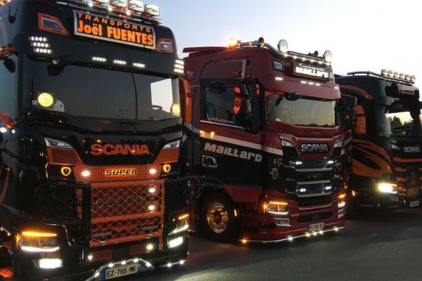 Les transporteurs routiers se sont réunis le 24 avril à Nantes pour rendre hommage aux personnels soignants
