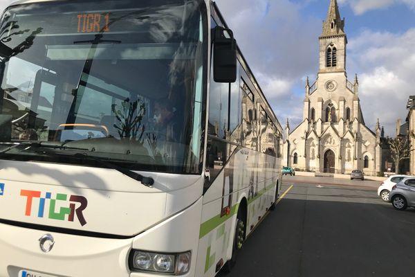Le TIGR, bus gratuit de la ville d'Issoudun en région Centre-val de Loire