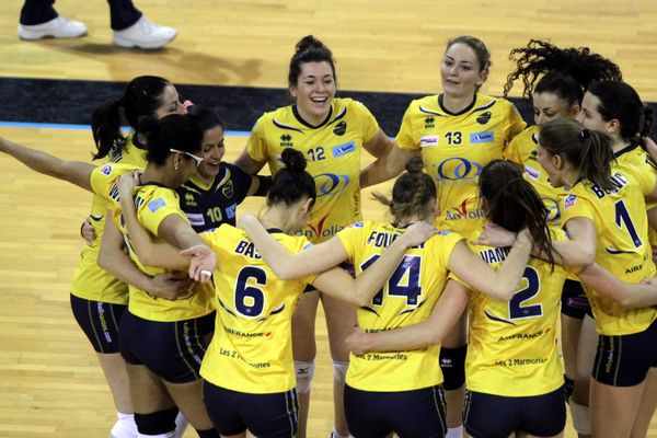 La joie nantaise après la victoire face à Mulhouse (3-2) en championnat, le 25 janvier 2014.