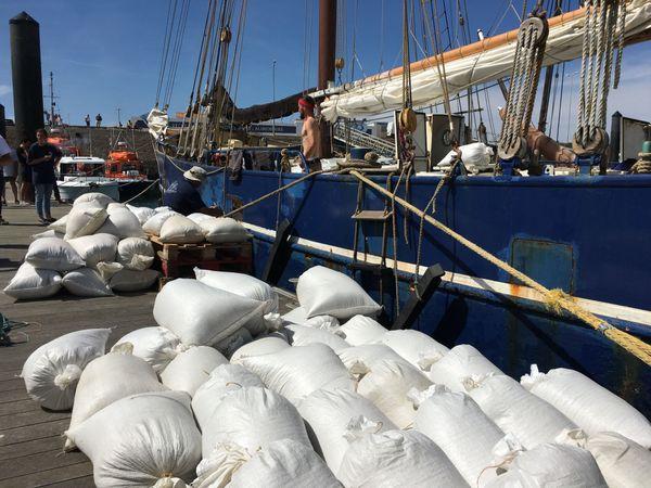Chargement du sel à Noirmoutier