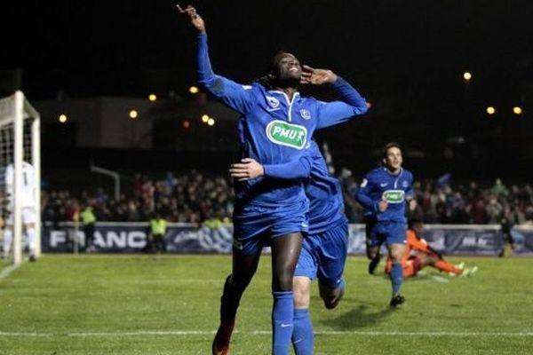 Vincent Crehin lors de la victoire face à Lorient (L1) le 3 janvier 2015