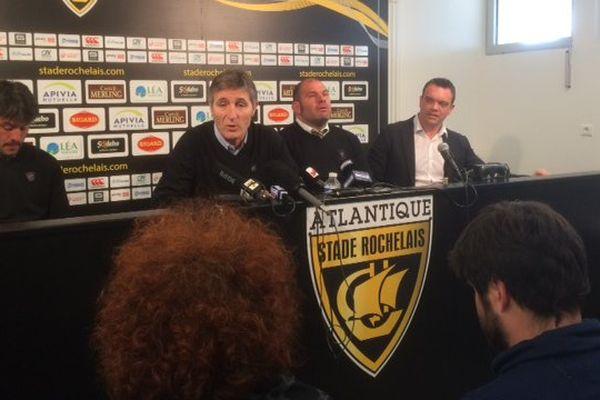 Vincent Merling a annoncé que Patrice Collazo et Xavier Garbajosa seraient entraîneurs du Stade Rochelais jusqu'en 2020.