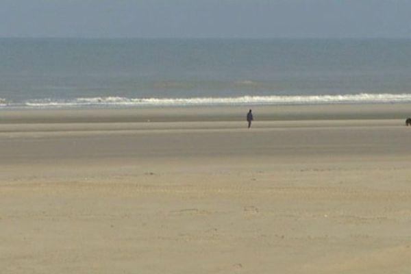 La plage de Berck-sur-mer, ce jeudi matin.