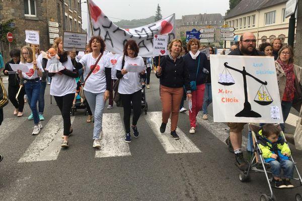 De nombreuses personnes se sont une nouvelle fois mobilisées ce 26 mai 2018 pour garder une maternité à Guingamp.