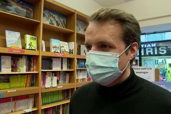 Marc Bordier, le nouveau propriétaire de la librairie Arthaud à Grenoble.