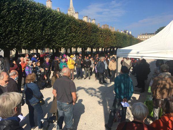Rassemblement de soutien aux militants condamnés devant la cour d'appel de Nancy.