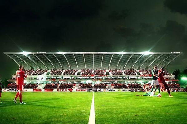 La future tribune Est du Stade Gaston Gérard de Dijon