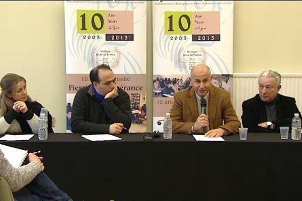 Conférence de presse au lycée Averroès vendredi dernier.