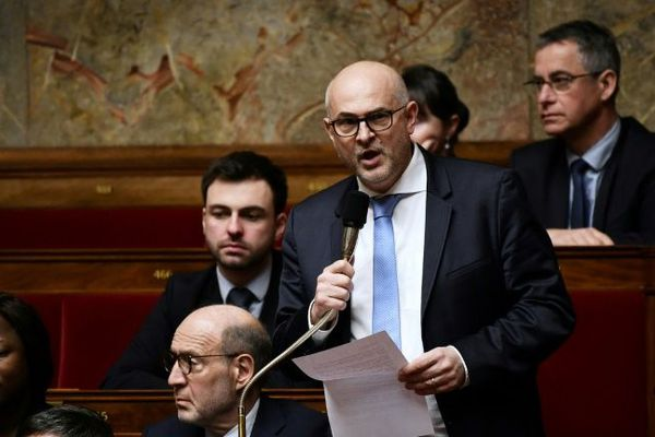 Le député LREM du Nord Laurent Pietraszewski à l'Assemblée nationale le 29 janvier 2019 à Paris