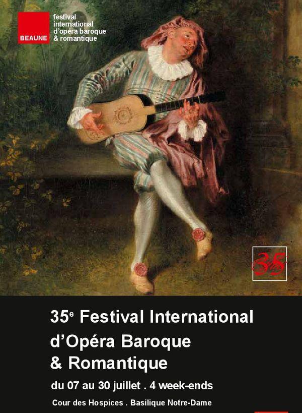 Affiche du 35e festival international d'opéra baroque et romantique à Beaune. Source: Production et communication du festival.