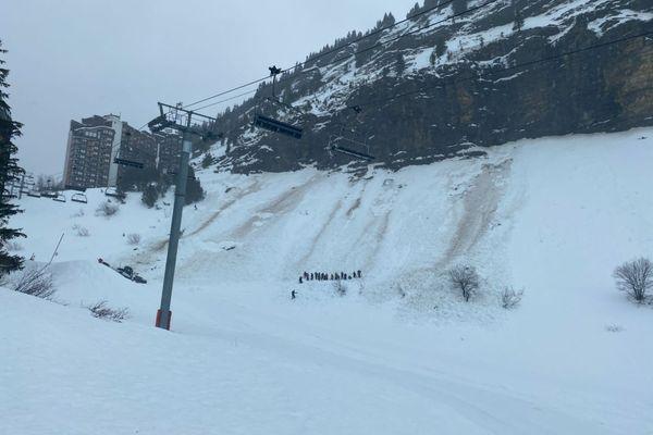 L'avalanche ce mercredi 3 février au village d'Avoriaz 1800.