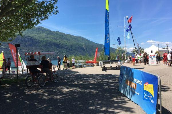 La vingtième édition de la Fête du nautisme se déroule ce premier weekend de juin, lac d'Aix-les-Bains (Savoie), samedi 1er juin 2019.