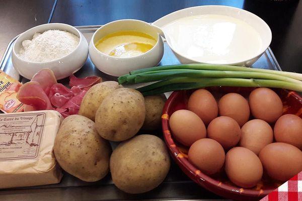 Les ingrédients des gaufres de pommes de terre
