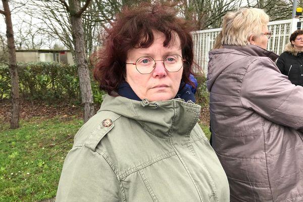Christelle Landerouin, salariée de Boiron à Montrichard-Val de Cher, le lendemain de l'annonce de la fermeture du site le 12 mars 2020.