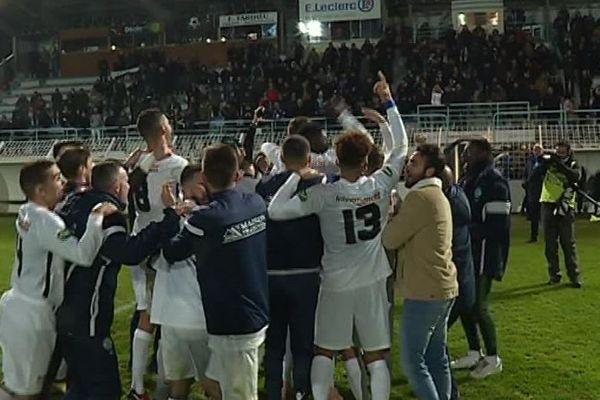 La victoire des Charentais d'Angoulême hier soir à domicile, ils ont éliminé l'AJA lors du 7ème tour de la Coupe de France