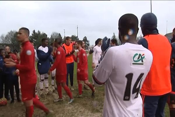 Les Lyonnais ont offert une haie d'honneur aux joueurs du LFC