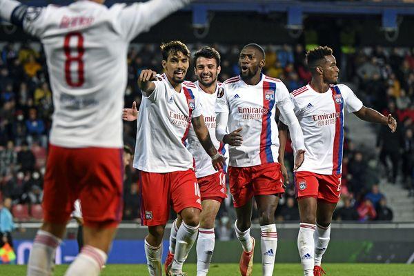 L'Olympique lyonnais a renversé le Sparta de Prague 4 buts à 3. / © ST?PHANE GUIOCHON / MAXPPP
