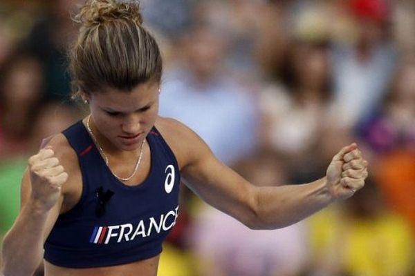 Marion Lotout aux Championnats du Monde à Moscou en 2013